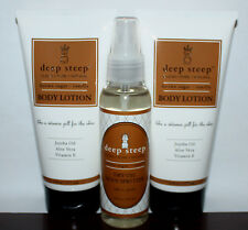 1 Deep Steep Dry Oil Body Spritzer & 2 Body Lotions Brown Sugar * Vanilla **