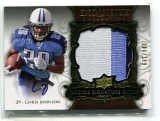 2008 Exquisite Collection Chris Johnson Patch Auto RC Rookie 186/199 TITANS