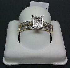 10K Yellow Gold Ladies Beautiful Diamond Ring 0.12CT/ Engagement Ring, Bridal