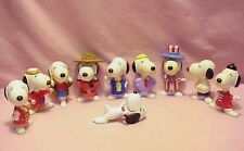 LOT 10 VINTAGE 1960s - 1980 SNOOPY FROM PEANUTS TOY FIGURINES