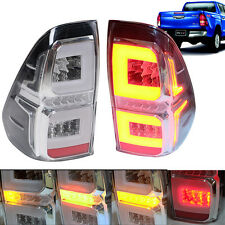 15+ For Toyota Hilux Revo M70 M80 Pickup Tail Lamp Lights LED Smoke Fog Red LR