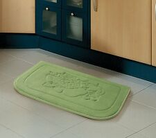 Sage Green Fruit Memory Foam Anti Fatigue Kitchen Floor Mat Rug