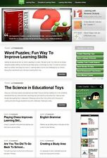 LEARNING & EDUCATION WEBSITE BUSINESS FOR SALE! with SEARCH ENGINE FRIENDLY CONT
