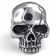Anello Teschio Skull Gotico Biker Acciaio Inox
