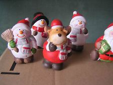 8-er Set Deko-Weihnachtsfiguren Sticker Set, Terracotta,