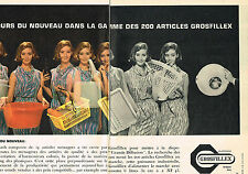 PUBLICITE ADVERTISING   1962    GROSFILLEX  série FLASH  ( 2 pages)