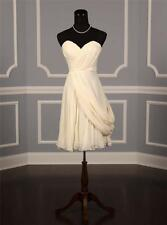 AUTHENTIC J. Mendel B10D02 Ivory Silk Chiffon NEW Bridal Gown 8 RETURN POLICY
