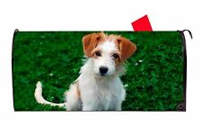 Jack Russell Dog Magnetic Vinyl Mailbox Cover Made In USA