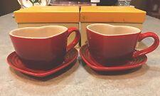 le creuset Heart Mug & Tray Sets-Discountinued And Rare