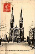 CPA PARIS 19e - Eglise de St-Jean-Baptiste de Belleville (301948)