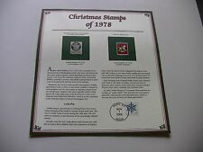 15 Cent Madonna and Child, and Child on Hobby Horse 1978 Christmas Stamps