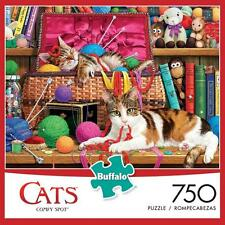 BUFFALO GAMES PUZZLE COMFY SPOT THE CATS OF CHARLES WYSOCKI 750 PCS #17081