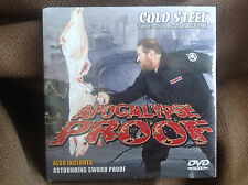 Cold Steel Apocalypse Proof DVD ALSO INCLUDES ASTOUNDING SWORD PROOF FREE SHIP!