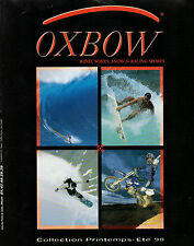 Publicité 1998  OXBOW vetement chaussure sport collection mode