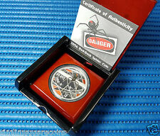 2006 Australia Tuvalu $1 Red Back Spider 1 oz 999 Fine Silver Proof Coin