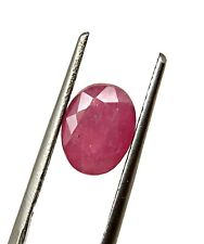 2.37 Cts Shimmering Natural Certified Madagascar Pink Ruby Oval Loose Gemstone