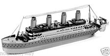 TITANIC Silver Model Kit 3D Puzzle Toy Metal Ship No Glue Nor Tools Adults Retro