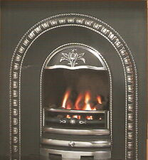 ARCHED CAST IRON FASCIA WITH  HOT BOX GAS FIRE - RRP £549!!