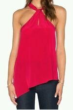 NWT Rory Beca Women's Red Silk Benitez Halter Tank Top Sz Small