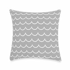 kate spade Candy Shop Stripe Waves Starry Night Gray Retro Square Toss Pillow