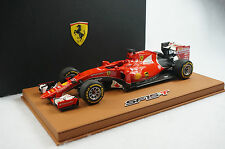 1/18 BBR FERRARI SF15-T G.P SINGAPORE WINNER VETTEL DELUXE BROWN LEATHER LE10 MR