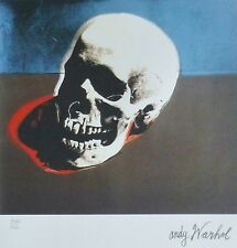 ANDY WARHOL SKULL WHITE SIGNED + HAND NUMBERED 4162/5000 LITHOGRAPH