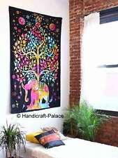 Tree of Life Psychedelic Wall Hanging Elephant Tapestry Multi Indian Mandala