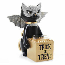Yankee Candle Halloween SOPHIA Black Cat Trick Or Treat Votive Tealight Holder !