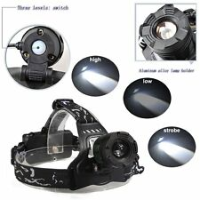 Tactical 2000LM CREE X-ML T6 LED 3 Mode Headlamp Headlight 18650 Super Bright