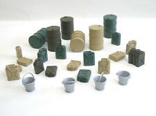 24002 1:24  Drums Set -Jerrycans, Containers, Buckets  - resin kit  Wespe Models