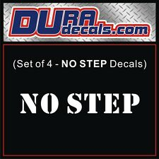 Set of 4 - NO STEP Vinyl Decals / Stickers / Jeep Army Military Stencil Labels