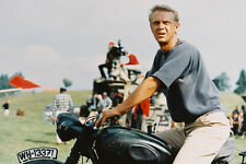 Steve Mcqueen The Great Escape Classic Astride Triumph Motorbike 24x36 Poster