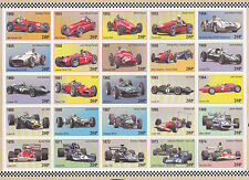 50th Anniversary F1 Formula 1 1950 to 1999 MCM charity label stamp sheet