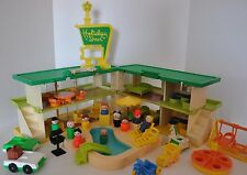Vintage Fisher Price Little People vacation at the Holiday Inn