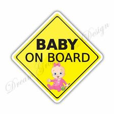 Baby on Board Full Color Adhesive Vinyl Sticker Window Car Bumper 022