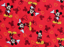 DISNEY MICKEY & MINNIE MOUSE ICON TOSS  COMIC STRIP  100% COTTON FABRIC  YARDAGE
