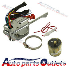 New Chrome 12V Universal Street Hot Rod Turn Signal Switch For FORD BUICK GM