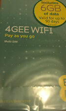 EE PAYG TRIPLE SIM CARD PRELOADED WITH 6GB OF 4GEE Data VALID FOR 90 DAYS NEW