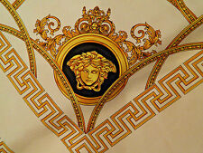 VERSACE MEDUSA NEW 2017 MADE IN ITALY  PURE SILK TWILL  FABRIC CM 240  X 140