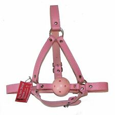 TheSexShopOnline - Bondage Pink Ball Gag Head Harness Restraint