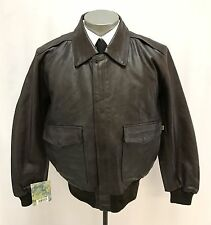NEW mens brown KNOX ARMORY A-2 leather bomber jacket flight alpha industries L