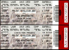 2 Rare Unused Linkin Park Projekt Revolution Tickets Aug 11th 2007 Tampa FL