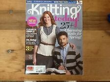 Knitting Today! Magazine March/April 2011 25+ Patterns Charming Knits for Spring