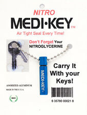 NITROGLYCERINE/PILL BOTTLE KEY CHAIN - SMALL SIZE, MADE IN USA! FREE SHIPPING!