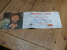 BARRY GIBB NOW VOYAGER!!!!!!!!!RARE FRENCH PROMO POSTER