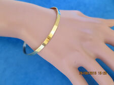 LADIES TRADITIONAL ROUND BANGLE SOLID (not hollow) 9CT GOLD FULL UK HALLMARK