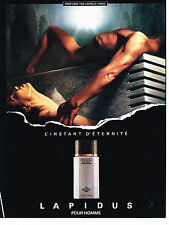 PUBLICITE ADVERTISING 064  1989  TED LAPIDUS parfum homme  INTANT d' ETERNITE