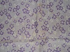 "Purple/Lilac White Flowers  Feedsack VTG fabric pc 21"" by 35"""