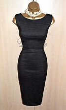 PHASE EIGHT Dark Grey Pencil Wiggle Dress UK 14  Business Formal Office