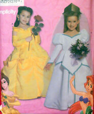 SEWING PATTERN Simplicity 9902 DISNEY BELLE ARIEL PRINCESS DRESS COSTUME 3 -8